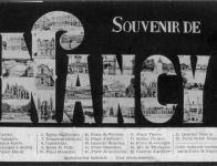 14 - Cartes fantaisies sur Nancy, avec messages