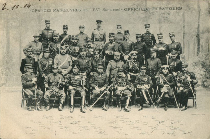 Officiers étrangers (sept. 1904)